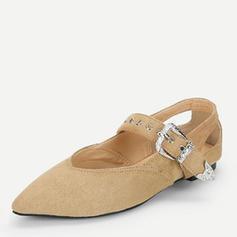 Dla kobiet Zamsz Płaski Obcas Plaskie Zakryte Palce Z Klamra obuwie