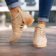 Femmes PU Talon bottier Escarpins Bottes avec Zip Ouvertes chaussures