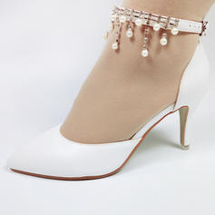 Women's Leatherette Spool Heel Closed Toe With Tassel