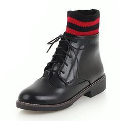 Femmes Similicuir Talon bottier Bottes Bottines avec Plissé Plissé Bande élastique chaussures