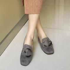 Kvinnor Mocka Flat Heel Platta Skor / Fritidsskor med Spänne skor