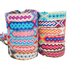 Fashionable Stylish Punk Basketwork Unisex Fashion Bracelets (Set of 12 pairs)