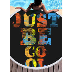letter attractive Beach Towel