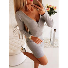 Lace Long Sleeves Bodycon Above Knee Sexy Dresses