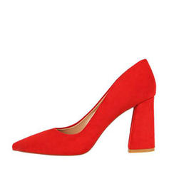 Donna Camoscio Tacco spesso Stiletto Punta chiusa con Altrui scarpe