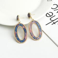 Stilvoll Legierung Acryl Frauen Ohrringe