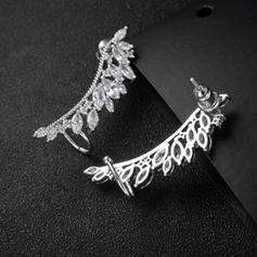 Schickes Legierung Zirkon Kupfer Damen Art-Ohrringe