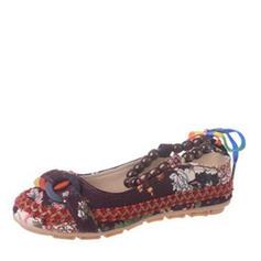 Kvinder PU Flad Hæl Fladsko med Perlebesat sko