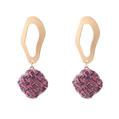 Stilvoll Stoff Legierung Frauen Art-Ohrringe (Set von 2)