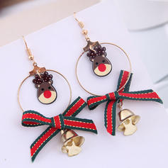 Animal Designed Stylish Cloth Alloy Earrings Christmas Jewelry