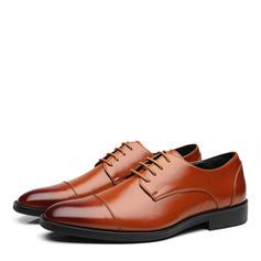 Cap Toes Cordones Zapatos de vestir Cuero Hombres Zapatos Oxford de caballero