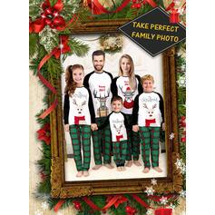 Північний олень Кольоровий блок Пліда Лист Для сім'ї Різдвяні піжами