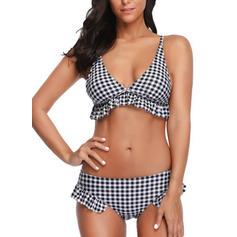 Carreaux À Bretelles Sexy Bikinis Maillots De Bain