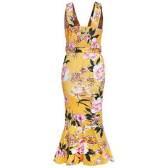 Print/Floral Sleeveless Sheath Sexy/Party Midi Dresses