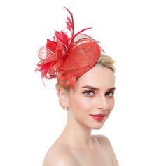 Dames Style Classique/Simple Fil net avec Feather Chapeaux de type fascinator