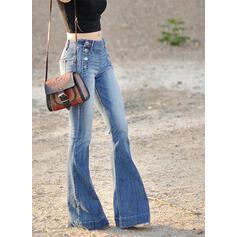 Les poches Grande taille Longue Décontractée Jeans