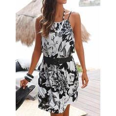 Print/Floral Sleeveless Sheath Above Knee Casual/Boho/Vacation Dresses
