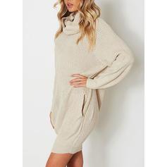 Chunky knit Turtleneck Sweater Dress