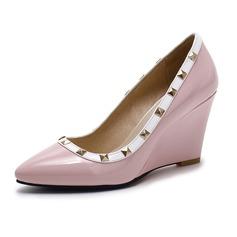 Vrouwen Kunstleer Wedge Heel Closed Toe Wedges schoenen