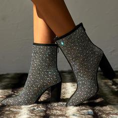Бокові черевики Чоботи середньої довжини з Ігристі блискітки взуття