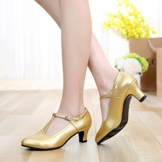Character Shoes Heels Pumps Real Leather With Buckle Latin