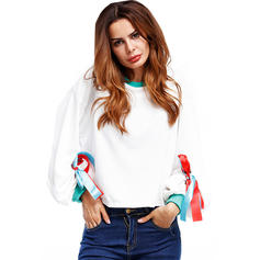 Polyester Couleur unie Sweat-shirts