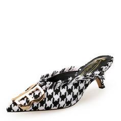 Dla kobiet Tkanina Szpilki Czólenka Zakryte Palce Bez Pięty Z Przycisk obuwie