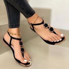 Dla kobiet PU Płaski Obcas Sandały obuwie