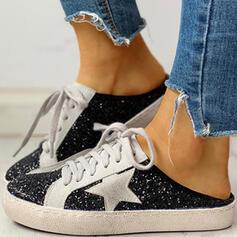Donna Glitter scintillanti PU Casuale All'aperto con Paillette Glitter scintillanti Allacciato scarpe
