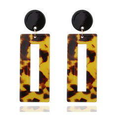 Fashionable Alloy Acrylic Women's Fashion Earrings (Sold in a single piece)