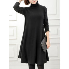 Long Sleeves Knee Length Dresses