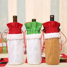 Сніговик Олені Санта Різдво Тканина Кришка пляшки