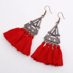 Colourful Alloy Braided Rope With Tassels Women's Fashion Earrings (Sold in a single piece)