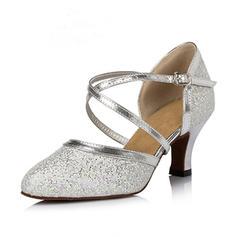 Women's Ballroom Heels Pumps Sparkling Glitter Ballroom