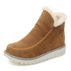 Bayanlar Süet Düz topuk bot ayakkabı Ayak bileği çizmeler Kar botları Ile Diğerleri ayakkabı
