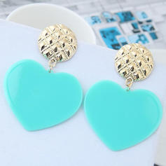 Heart Shaped Alloy Girls' Fashion Earrings (Sold in a single piece)