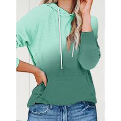 Kamuflaż Bluza z kapturem Długie rękawy Bluza z kapturem