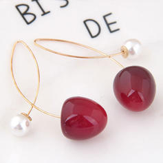 Con estilo Simple Aleación Resina La perla de faux De mujer Pendientes