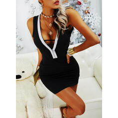 Sequins/Backless Sleeveless Bodycon Above Knee Sexy/Party Dresses