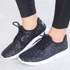 Women's PU Casual Outdoor With Sparkling Glitter Lace-up shoes