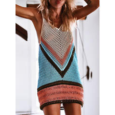 Splice color V-neck Sexy Cover-ups Swimsuits