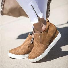Women's PU With Zipper shoes