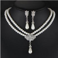 Hermoso Aleación Diamantes de imitación La perla de faux con Perlas de imitación Señoras' Sistemas de la joyería