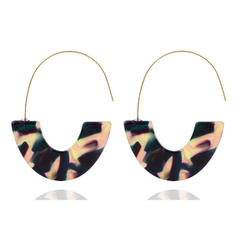 Unique Alloy Resin Women's Earrings (Sold in a single piece)
