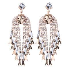 Hermoso Aleación Diamantes de imitación Señoras' Pendientes de la manera