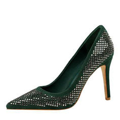 Vrouwen Fluwelen Stiletto Heel Pumps met Hol-out schoenen