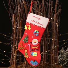 Merry Christmas Hanging Gift Bag Non-Woven Fabric Diy Craft