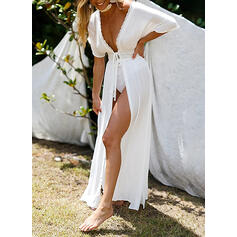 Solid Color Sexy Boho Cover-ups Swimsuits