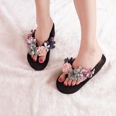 Naisten Maissileseet Wedge heel Kiilat Tossut jossa Kukka kengät