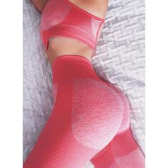 Spaghetti Straps Sleeveless Color Block Sports Leggings Sports Bras